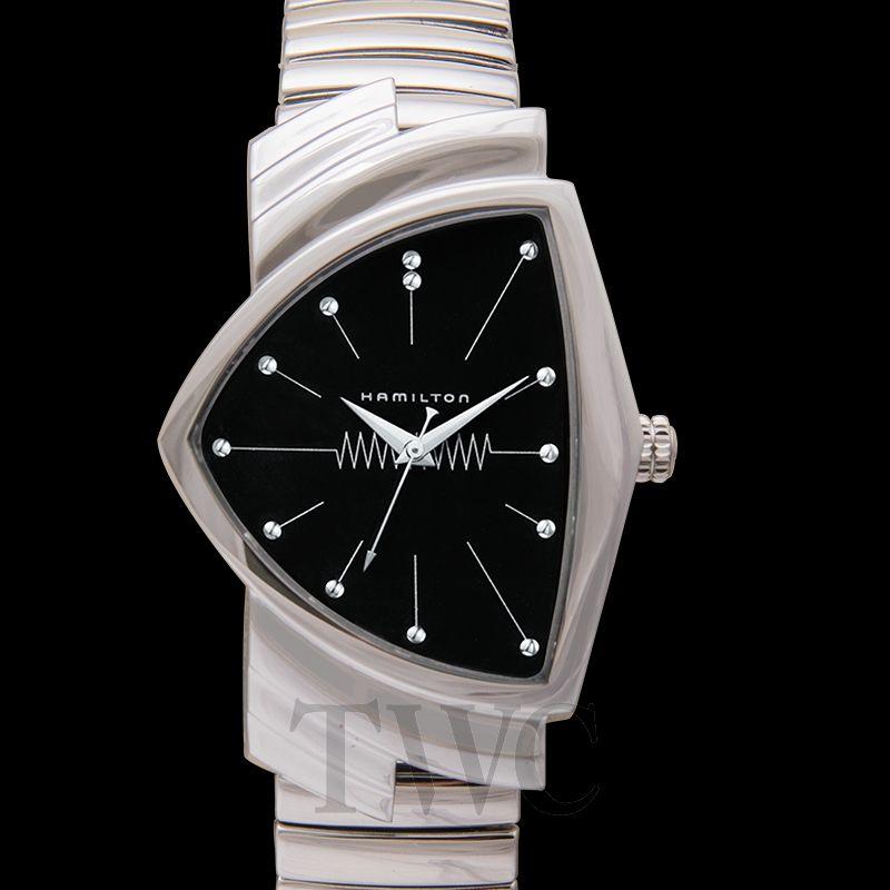 ハミルトン ベンチュラ クォーツ 60周年記念 ブラック/ステンレス H24411232