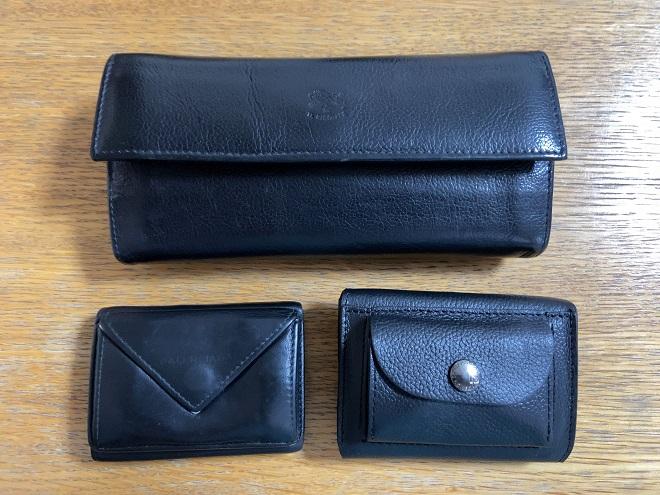 イルビソンテの長財布とバレンシアガのミニ財布とライフポケットの小さい財布画像