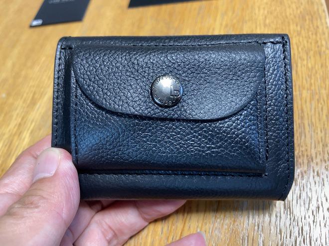 筆者が購入したライフポケット財布をもって撮影した画像