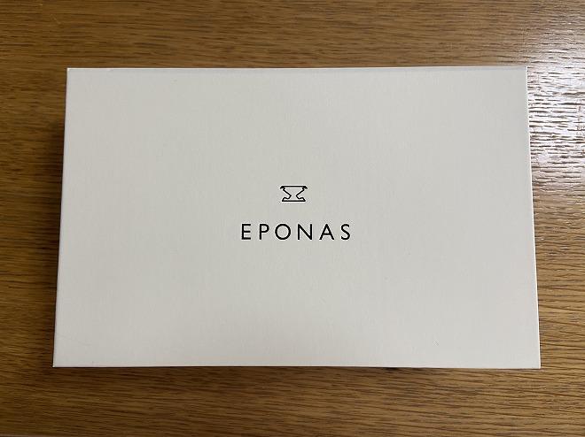 eponasアップルウォッチベルトが入った化粧箱
