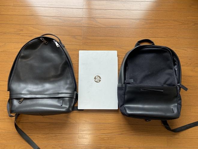 TSOGの『THE ONE』と15インチノートPCと『MUKO』の3つを並べて撮影した画像